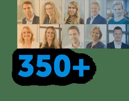 350+ werknemers
